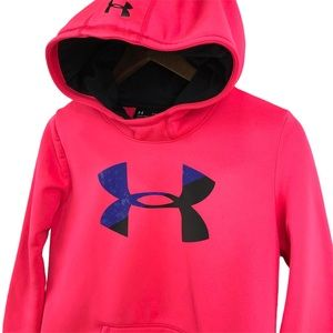 Under Armour Storm ColdGear Hot Pink Hoodie Sz YXL